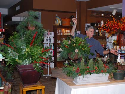 Bob shows us how to transform planters full of dead summer plants into cheerful holiday arrangements.