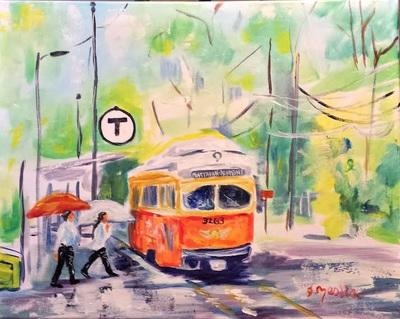 artist Janet Lee harrold Mattapan Ashmont trolley